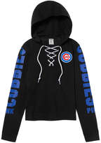 PINK Chicago Cubs Lace-Up Hoodie