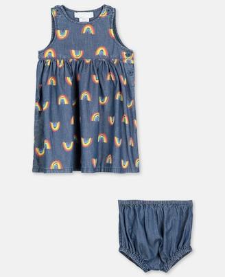 Stella McCartney rainbow chambray dress