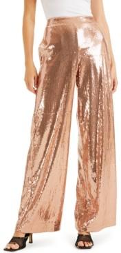 INC International Concepts Culpos X Inc Sequin Wide-Leg Pants, Created for Macy's