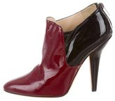 Jimmy Choo Two-Tone Patent Leather Booties