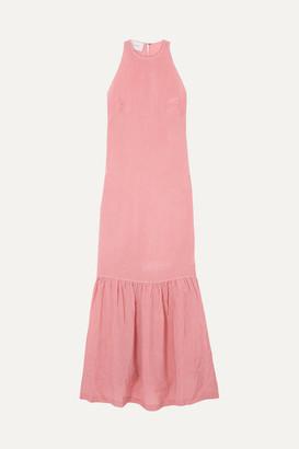 Marios Schwab Ogygia Tiered Satin Maxi Dress - Pink