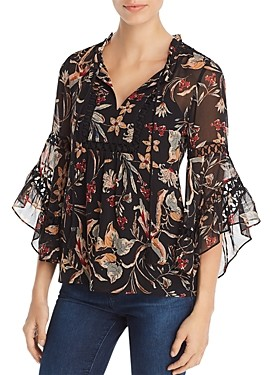 Daniel Rainn Bell-Sleeve Peasant Top