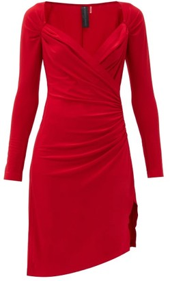 Norma Kamali Sweetheart-neckline Draped-jersey Dress - Red