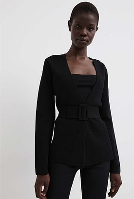 Witchery Belted Button Knit Jacket