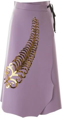 Prada Sequin Detail A-Line Skirt