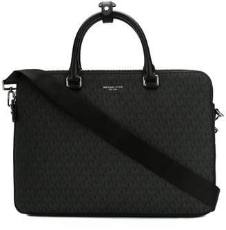 Michael Kors logo print briefcase