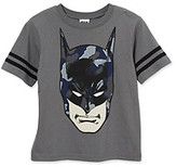 Batman Boys' 4-20 Grey Short Sleeve Camo Face Tee