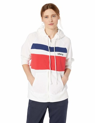 Levi's Women's Stripe Sweatshirt Hoodie