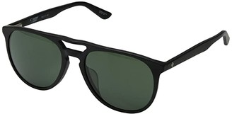 Spy Optic Syndicate (Matte Black/Happy Gray Green) Athletic Performance Sport Sunglasses