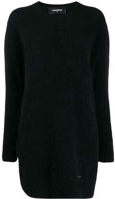 DSQUARED2 fuzzy knit jumper dress