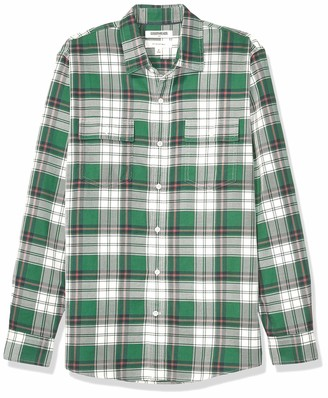 Goodthreads Slim-fit Long-sleeve Plaid Twill Shirt Button