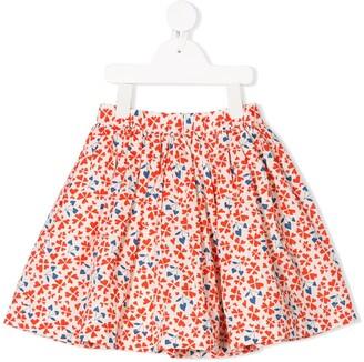 Bonpoint Heart Print Flared Skirt