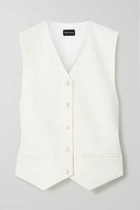 Magda Butrym Paneled Wool-twill And Satin Vest - Cream