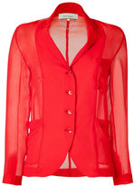 Paul Smith Red Sheer Blazer-Blouse