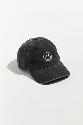 Urban Outfitters Smile Embroidered Washed Baseball Hat