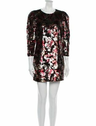 IRO Printed Mini Dress w/ Tags Red