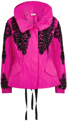 Dries Van Noten Valera Fuchsia Embellished Shell Jacket