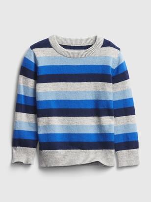 Gap Toddler Happy Stripe Crewneck Sweater