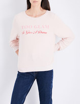 Wildfox Couture Too Glam fleece sweatshirt