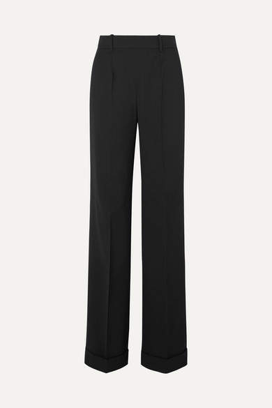 Altuzarra Gavi Wool-blend Wide-leg Pants - Black
