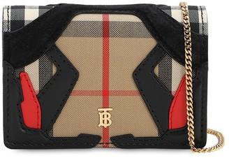 Burberry Jessie Patchwork Check Chain Wallet