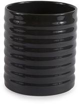 Stripe Ceramic Utensil Holder in Slate