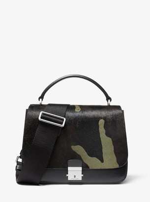 Michael Kors Mia Camo Calf Hair Shoulder Satchel