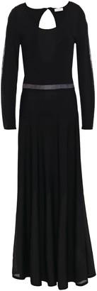Sandro Zephir Cutout Ribbed-knit Maxi Dress