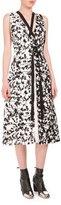 Proenza Schouler Sleeveless Vine-Print Strappy Dress, Black/White/Yellow