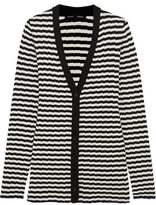 Proenza Schouler Striped Ribbed Silk And Cashmere-Blend Cardigan