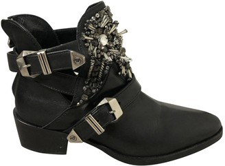Philipp Plein \N Black Leather Ankle boots