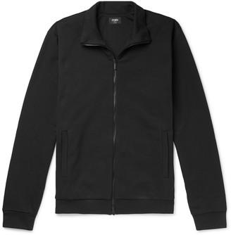 Fendi Slim-Fit Logo-Detail Cotton-Jersey Track Jacket