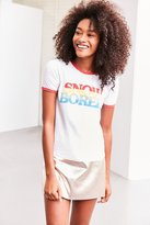 Truly Madly Deeply Snow Bored Ringer Tee