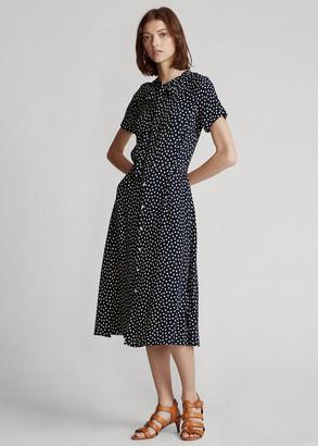 Ralph Lauren Belted Short-Sleeve Dress