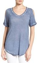 Women's Caslon Cold Shoulder V-Neck Tee