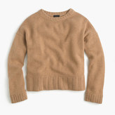 J.Crew Italian cashmere drop-shoulder crewneck sweater
