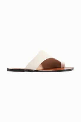 ATP ATELIER Rosa Cutout Leather Sandals - White