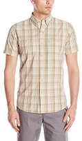 G.H. Bass Men's Short Sleeve Rock River Textured Plaid Shirt