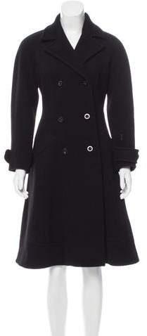 Anna Molinari Wool Double-Breasted Coat