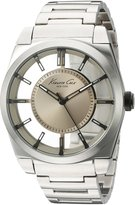 Kenneth Cole New York Men's 10027838 Transparency Analog Display Japanese Quartz Silver Watch