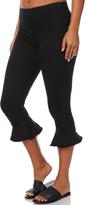 MinkPink Bel Air Cropped Flare Pant Black