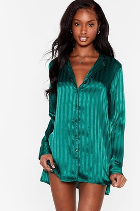 Nasty Gal Womens It's Been a Jacquard Day Pyjama Night Dress - Green - 6, Green