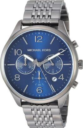 Michael Kors Men's Merrick Quartz Watch with Stainless-Steel-Plated Strap
