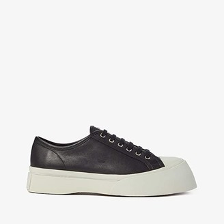 Marni Leather Big Toe Sneaker (Black) Men's Shoes