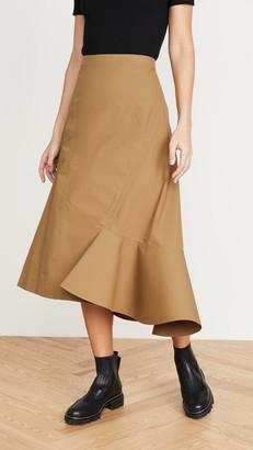 3.1 Phillip Lim Bonded Ruffle Hem Skirt