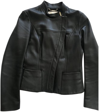 HUGO BOSS Black Leather Leather Jacket for Women