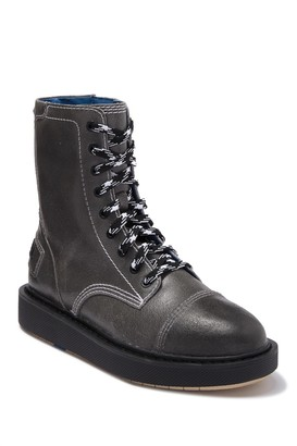 Diesel Cage-D Leather Combat Boot