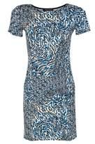 Select Fashion Fashion Womens Blue Mix Print Pkt Shift Dress - size 10