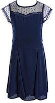 Xtraordinary Big Girls 7-16 Illusion Neckline Fit-And-Flare Dress