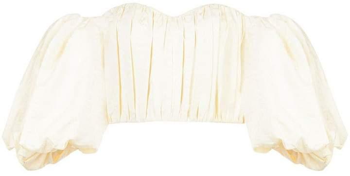 Ellery off shoulder bustier blouse